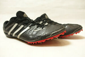 Adidas Carbon UK9.5 Track Running Boots Black Red Spikes Track Field Trainer Run