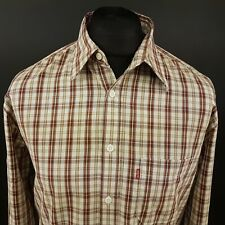 Levi's Mens Vintage Red Tab Shirt SMALL Long Sleeve Check Cotton