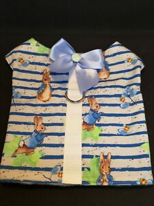 Designer Dog Harness Chihuahua, XS. PETER RABBIT design, assorted sizes.