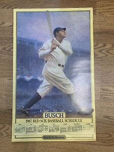 1987 Boston Red Sox Baseball Schedule Poster BABE RUTH Yankee Stadium 33 posters