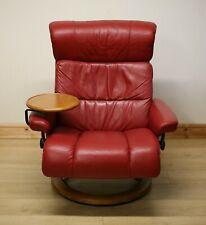 Ekornes Stressless Leather Armchair / Swivel Chair & Footstool