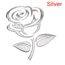 Reflective 3D Cutout Rose Auto Sticker Body Decor Flower Car Sticker UniversalCQ