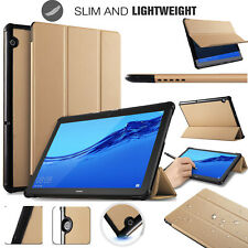 "Huawei MediaPad T5 10.1"" Tablet Smart Folio Magnetic PU Leather Stand Case Cover"