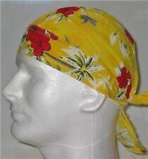 USA Hawaii yellow  COTTON Bandana DURAG Skull Cap