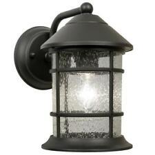 Newport Crest Sunset Black Outdoor Wall Lantern Sconce