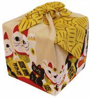 Japanese Small Furoshiki Wrapping Cotton Cloth Maneki Neko Wrapping 50 x 50 cm