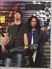 Metallica James Hetfield Kirk Hammett Signature ESP guitar 8 x 11 pin-up photo