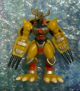 "Vintage Digimon Action Figure WarGreymon Claw Chopping 3.25"" Bandai 1999"