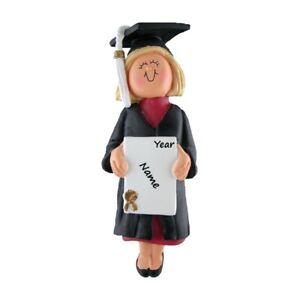 PERSONALIZED Graduate Graduating Christmas Ornament, Female/Girl 2021 Keepsake