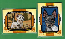 Lot Of (2) 2018 Upper Deck Goodwin Champions Canine Companions Terrier Toy Fox +