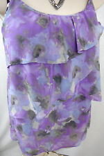 New York and Co Top S Size Small Lined Teired Ruffle Loose Womens Tank Shirt