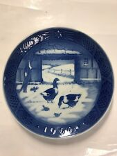 "1969 Vintage Royal Copenhagen Christmas ""In The Old Farmyard"" Plate, 7 1/4"""