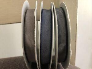Stampin Up Ribbon Lot of 3 Taffeta Espresso Night of Navy Basic Black