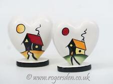 Lorna Bailey  RARE A Pair of Hearts House on the Hill Design