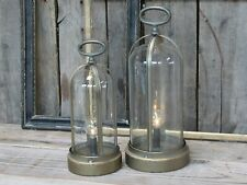 CHIC ANTIQUE Laterne inkl. LED Glühbirne Zink Windlicht Lampe Metall Messing