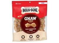Milk-Bone Gnaw Knotted Dog Chew Treats, Chicken, Mini Treats, 19.1 Ounces,