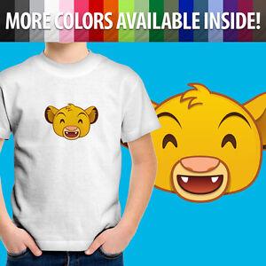 Toddler Kids Tee Youth T-Shirt Print Cute Gift Lion King Simba Happy Grin Smile