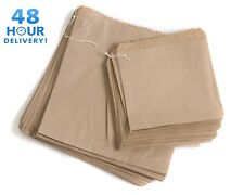 More details for brown kraft strong paper food bags for sandwiches groceries etc all sizes flat