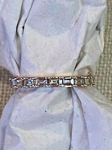 NOEMIE - THE BAGUETTE DIAMOND BAND RING - 18K ROSE GOLD - SZ 5 - GENTLY LOVED