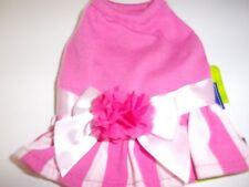 Pink Flower Bow Dog Dress new pet XXS teacup Top Paw puppy cat runs very small