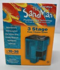 WARDLEY The SandMan 3 Stage Fish Tank Filtration System 10-38 Gallons BRAND NEW