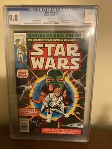 Star Wars 1 CGC 9.8 1977 First print White Pages