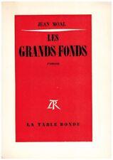 MOAL Jean - LES GRANDS FONDS - DEDICACE - 1973