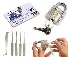 credit card + padlock lock pick unlock lockpicking locksmith kit de crochetage '