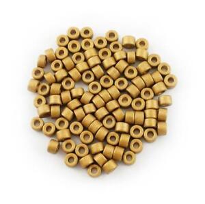 Ceramic tubes Yellow Metallic 6mm 100 Piece Ceramics beads Golden beads