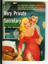 VERY PRIVATE SECRETARY, rare US Intimate #26 sleaze gga digest pulp vintage pb