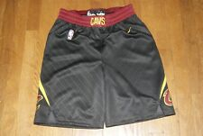 NBA Nike Cleveland Cavs Cavaliers Shorts Sz 30 Small Black Burgundy Authentic