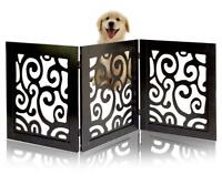 Safety Pet Gate Dogs Free-Standing Foldable Wooden Fence Barrier Stairs Doorway