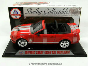 SHELBY COLLECTIBLES 2007 SHELBY GT500 40TH ANNIVERSARY CONVERTIBLE - BRAND NEW