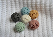 Six 14mm Lava Stones for aromatherapy essential oil necklace - 6 colors!