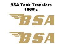 BSA Tank Transfers Decals Motorcycle 2XLarge 300x78mm B25 B40 A65 B44 Gold