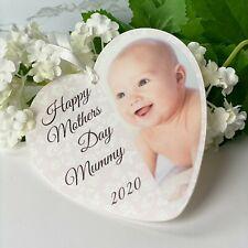 I love my mummy photo personalised acrylic heart rose back New Baby Mothers Day