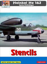 H-Modelo Decals 1/32 Heinkel He 162 Spatz/Volksjager Stencils # 32004