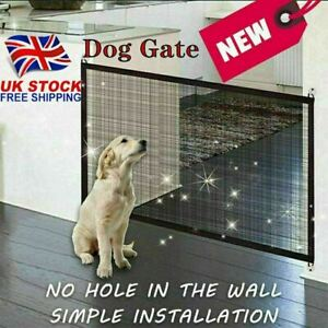 HOT SELL Retractable Pet Dog Gate Safety Guard Folding Baby Stair Gate Isolation