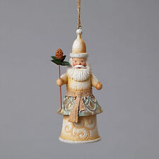 Santa with Pinecone Staff Ornament Jim Shore River's End Christmas New In Box