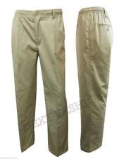 Pantaloni da uomo beige a gamba dritta, taglia 48