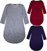 Ladies Plus Size Top Women Plain Vest Tunic Swing Blouse UK 16 18 20 22 24 26 28