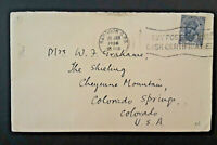 1936 Rangoon Burma To Colorado Springs Colorado Cover