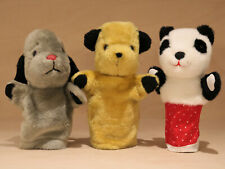 Sooty, Sweep & Sue Puppet Set - Hand Glove - Sooty Show - Vintage TV - VGC