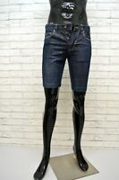 CALVIN KLEIN Bermuda Slim Jeans Uomo Taglia 30 Pants Pantalone Corto Shorts