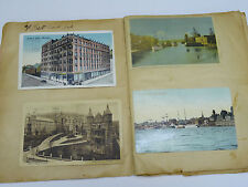 LOT OF 60 pcs ANTIQUE EARLY 20c. POSTCARDS: U.S. CITIES, CANADA, MILITARY $700+