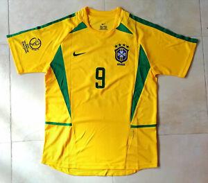 Camiseta BRASIL Última vez Campeón Mundo (2002) # 9-RONALDO