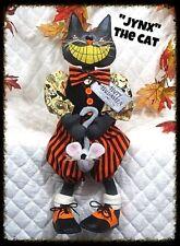 "~Primitive Raggedy Halloween ""JYNX the Black Cat w/MOUSE ""~PATTERN #464"