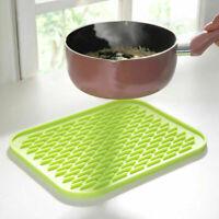 Kitchen Heat Resistant Mat Non-slip Pad Potholders Silicone Pan Placemat Holder