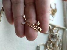 9ct Gold real Pearl drop Earrings