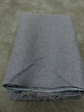 Stone grey self lined faux linen remnant crafts fabric material piece 220x100cm